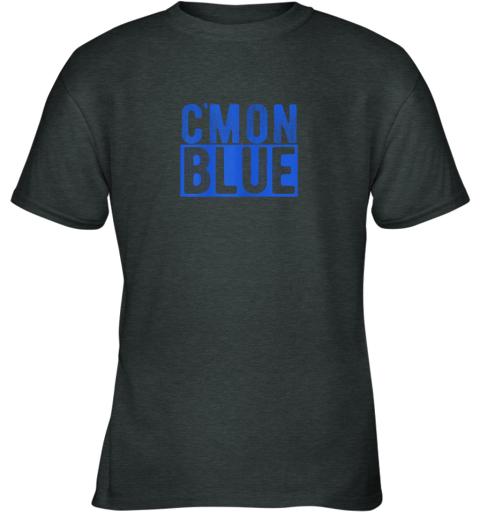 zj3j cmon blue umpire baseball fan graphic lover gift youth t shirt 26 front dark heather