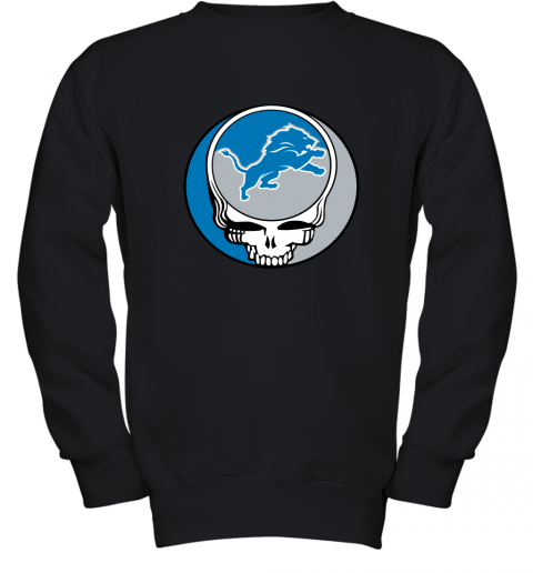 remn nfl team detroit lions x grateful dead youth sweatshirt 47 front black