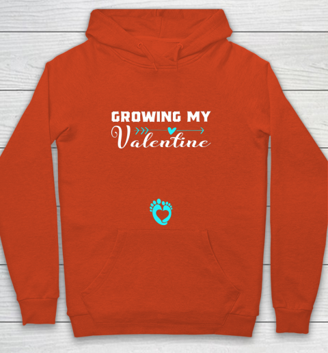 Cute Growing my Valentine Gift for Women pregnancy Youth Hoodie 3