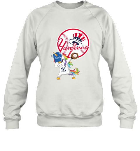 Hip Hop Dabbing Unicorn Flippin Love New York Yankees Sweatshirt