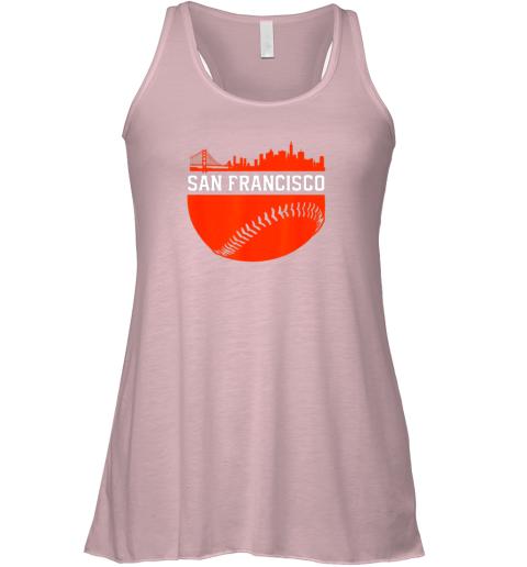 jr39 san francisco baseball vintage sf the city skyline gift flowy tank 32 front soft pink