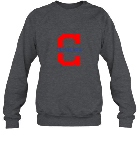 rpz5 cleveland hometown indian tribe vintage for baseball sweatshirt 35 front dark heather