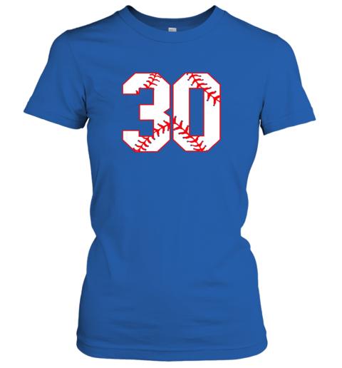 oowm thirtieth birthday party 30th baseball shirt born 1989 ladies t shirt 20 front royal