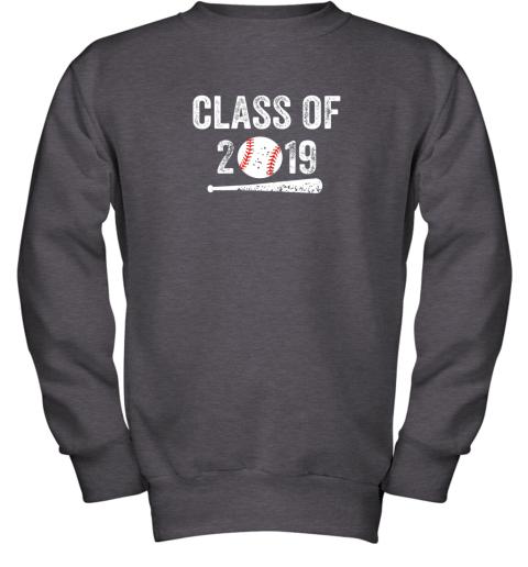 3ovu class of 2019 vintage shirt graduation baseball gift senior youth sweatshirt 47 front dark heather