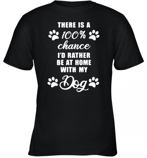 At Home With My Dog Youth T-Shirt