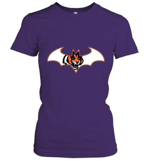 9lnv we are the cincinnati bengals batman nfl mashup ladies t shirt 20 front purple