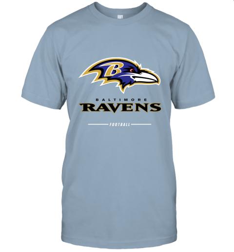 jykt mens baltimore ravens nfl pro line black team lockup t shirt jersey t shirt 60 front light blue