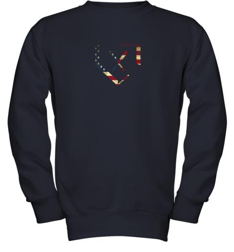 fip7 home plate baseball bats american flag shirt baseballin youth sweatshirt 47 front navy