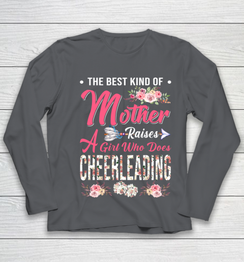 Cheerleading the best mother raises a girl Youth Long Sleeve 6