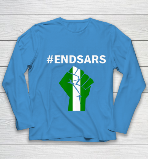 EndSARS End SARS Nigeria Flag Colors Strong Fist Protest Youth Long Sleeve 5