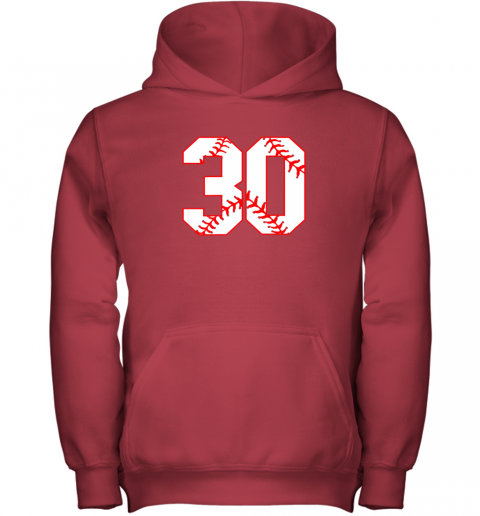 mn4l thirtieth birthday party 30th baseball shirt born 1989 youth hoodie 43 front red