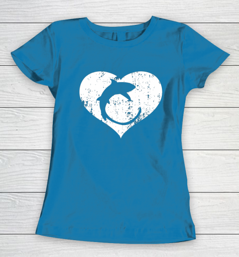 I Love Sharks Gifts Thresher Shark Heart Valentine Gift Women's T-Shirt 6