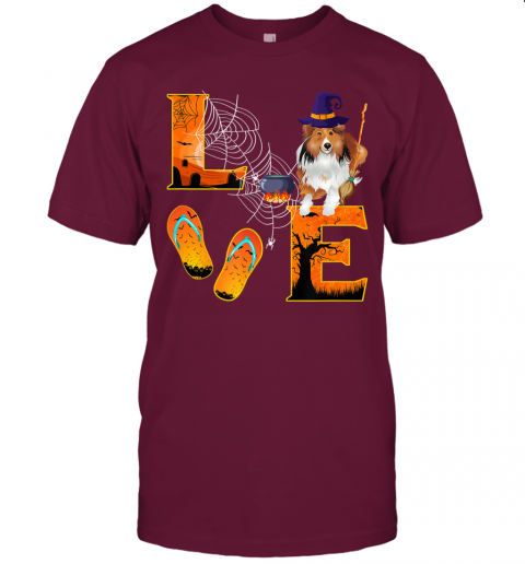 sheltie Love Halloween Boo Dog Gifts sheltie lover T-Shirt