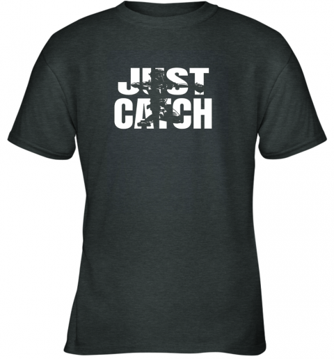 bz6z just catch baseball catchers long sleeve shirt baseballisms youth t shirt 26 front dark heather