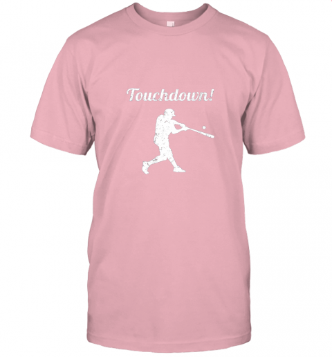 381s touchdown funny baseball jersey t shirt 60 front pink