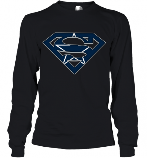 We Are Undefeatable The Dallas Cowboys x Superman NFL Youth Long Sleeve