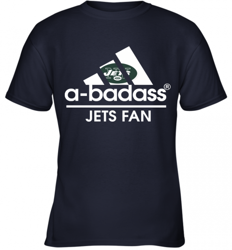 xdyk a badass new york jets mashup adidas nfl youth t shirt 26 front navy
