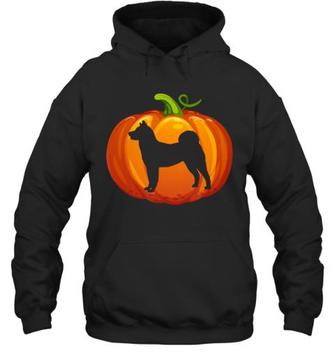 Akita Carved In Pumpkin Dog Owner Halloween Hoodie