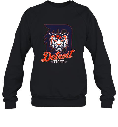 Tiger Mascot Distressed Detroit Baseball T shirt New Sweatshirt