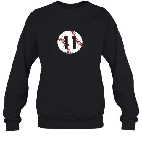 Vintage Baseball Number 11 Shirt Cool Softball Mom Gift Sweatshirt