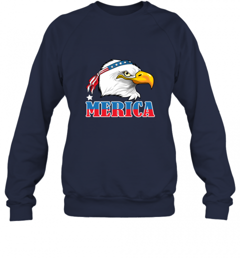 Eagle Mullet 4th Of July American Flag Merica USA Sweatshirt