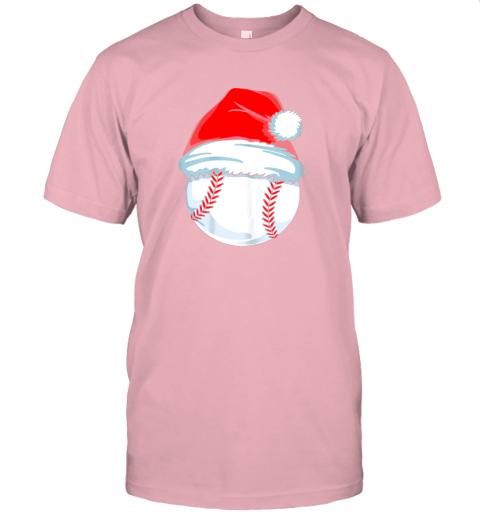 yu1m christmas baseball shirt for kids men ball santa pajama jersey t shirt 60 front pink
