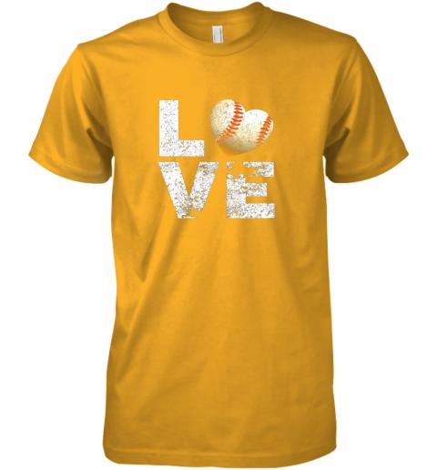 lkon i love baseball funny gift for baseball fans lovers premium guys tee 5 front gold