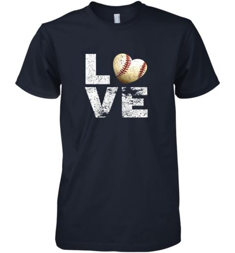 lkon i love baseball funny gift for baseball fans lovers premium guys tee 5 front midnight navy