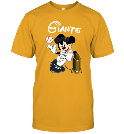 zev7 san francisco giants mickey taking the trophy mlb 2019 jersey t shirt 60 front gold