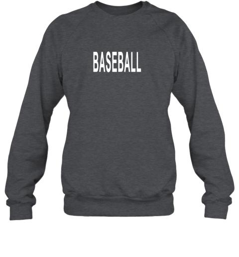 cyws shirt that says baseball sweatshirt 35 front dark heather
