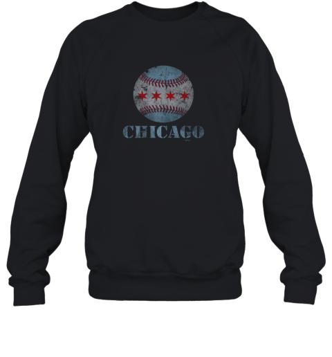 Vintage Chicago Baseball Flag Sweatshirt