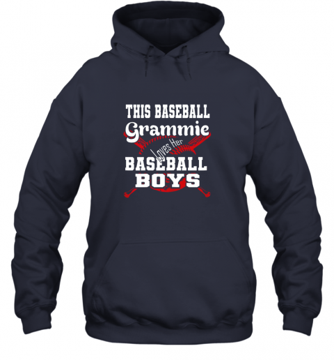 nnhy this baseball grammie loves her baseball boys hoodie 23 front navy