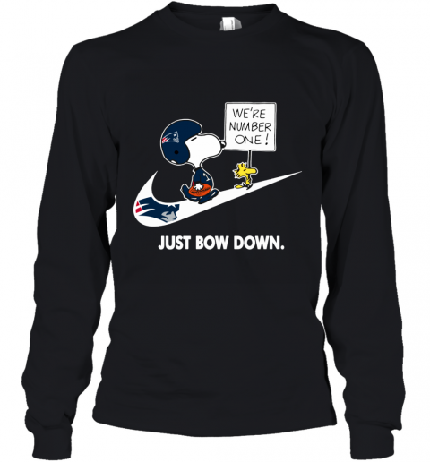NFL New England Patriots Are Number One – NIKE Just Bow Down Snoopy Youth Long Sleeve