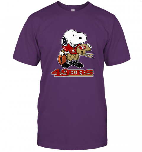Snoopy A Strong And Proud San Francisco 49ers Player NFL Unisex Jersey Tee