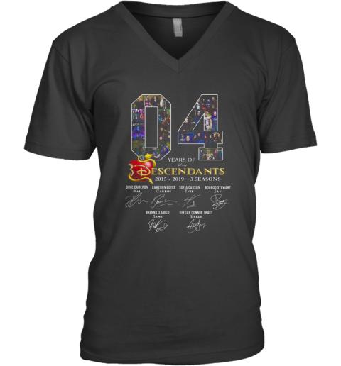 04 Years Of Descendants 2015 2019 3 Seasons Signature V-Neck T-Shirt