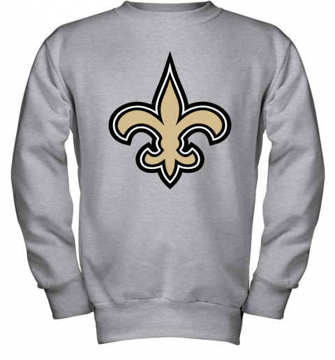 o7io orleans saints nfl pro line gray victory youth sweatshirt 47 front sport grey