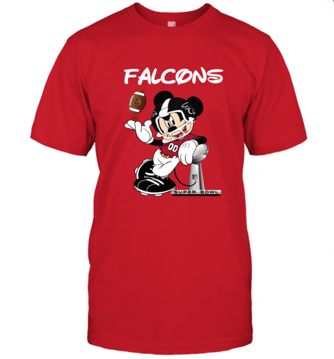 wzwj mickey falcons taking the super bowl trophy football jersey t shirt 60 front red