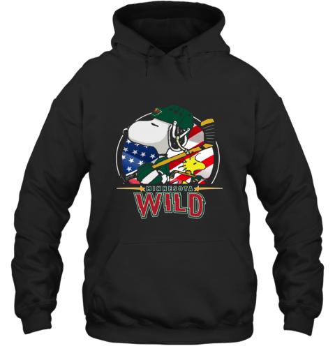 Minnesota Wild Ice Hockey Snoopy And Woodstock NHL Hoodie
