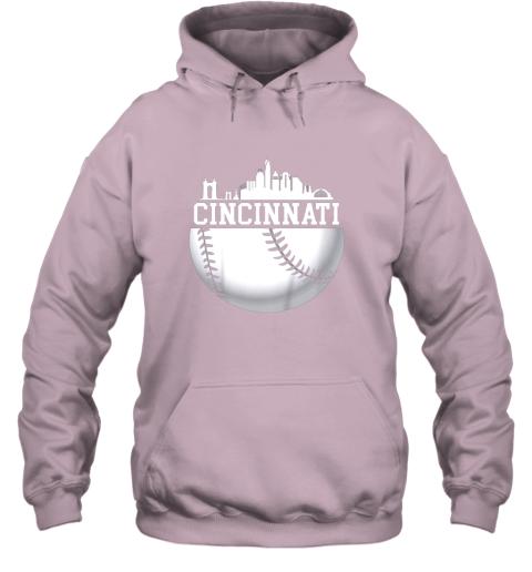 hd4y vintage downtown cincinnati shirt baseball retro ohio state hoodie 23 front light pink