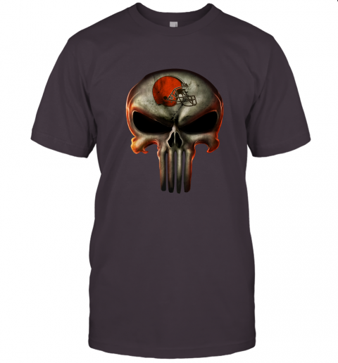 aa4h cleveland browns the punisher mashup football jersey t shirt 60 front dark grey