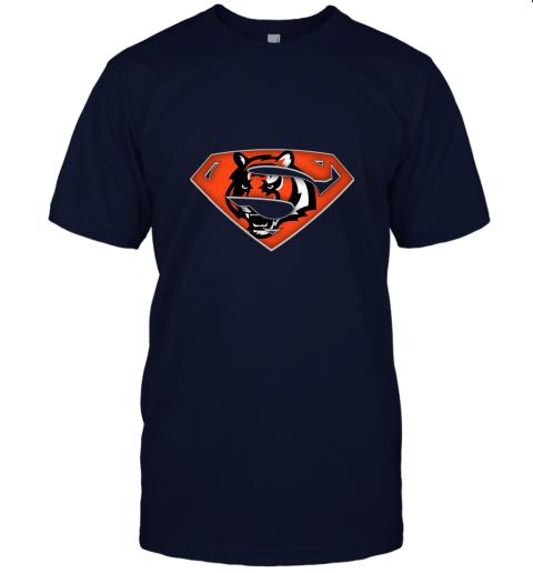 x3lk we are undefeatable the cincinnati bengals x superman nfl jersey t shirt 60 front navy