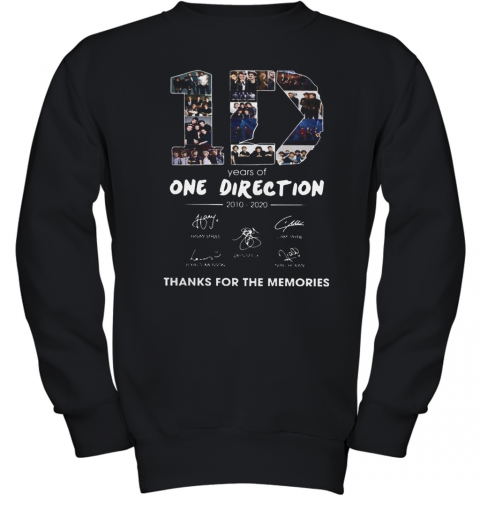 10 Years Of One Direction 2010 2020 Signatures Youth Sweatshirt