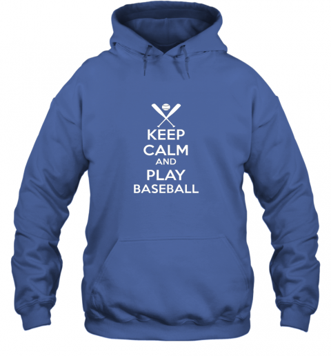 jsta keep calm and play baseball hoodie 23 front royal