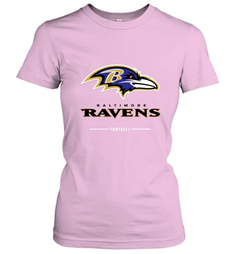 uuoi mens baltimore ravens nfl pro line black team lockup t shirt ladies t shirt 20 front light pink