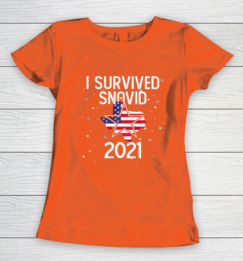 I Survived Snovid 2021 Texas Snowstorm Women's T-Shirt 3