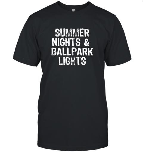 Summer Nights And Ballpark Lights Baseball Softball Unisex Jersey Tee