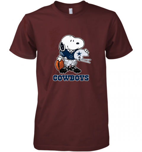 Snoopy A Strong And Proud Dallas Cowboys Player NFL Premium Men's T-Shirt
