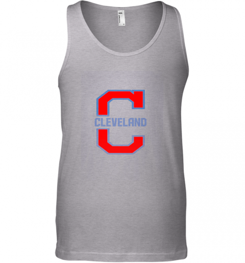 zqns cleveland hometown indian tribe vintage for baseball fans unisex tank 17 front sport grey
