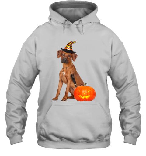 Rhodesian Ridgeback Witch Hat Halloween Dog Costume Hoodie