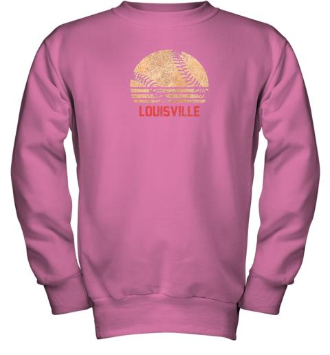 pl13 vintage baseball louisville shirt cool softball gift youth sweatshirt 47 front safety pink